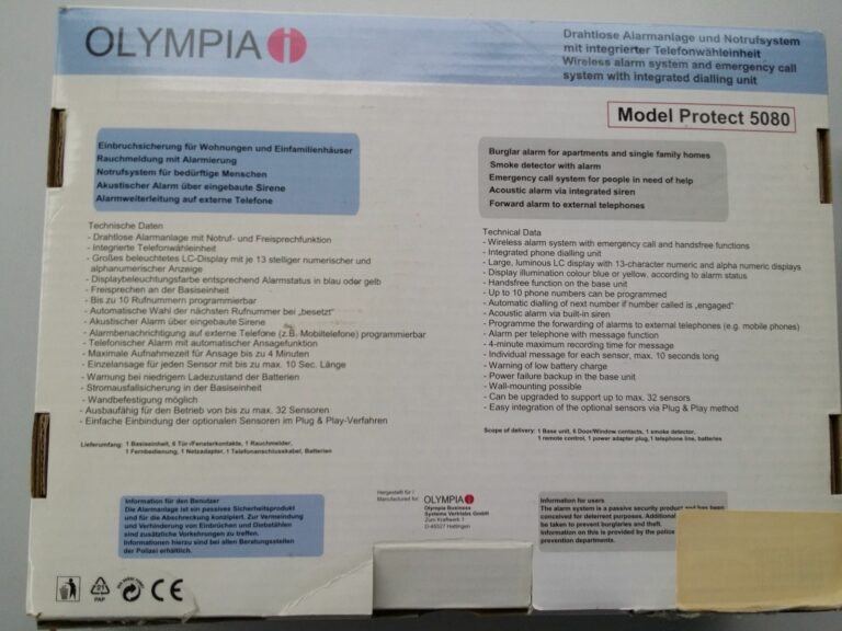 Olympia Protect 5080 im Vergleich