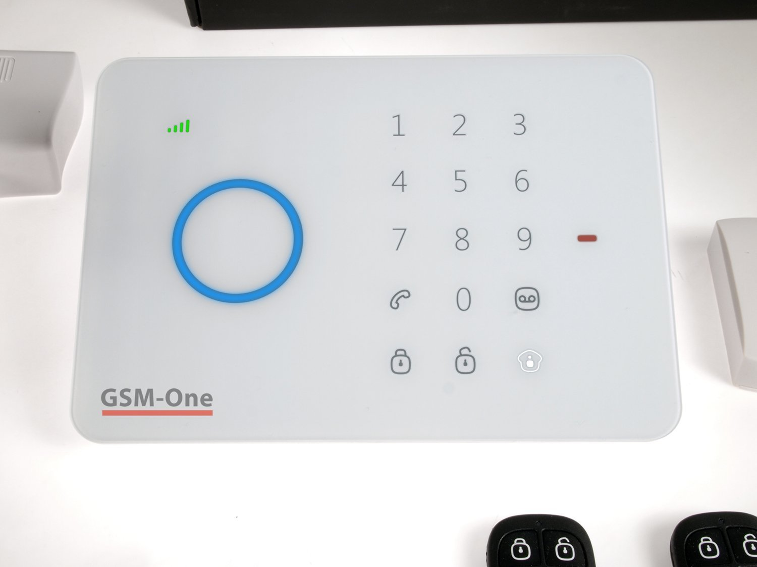 gsm one drh 206 touch im test gsm one alarmanlage drh 206. Black Bedroom Furniture Sets. Home Design Ideas